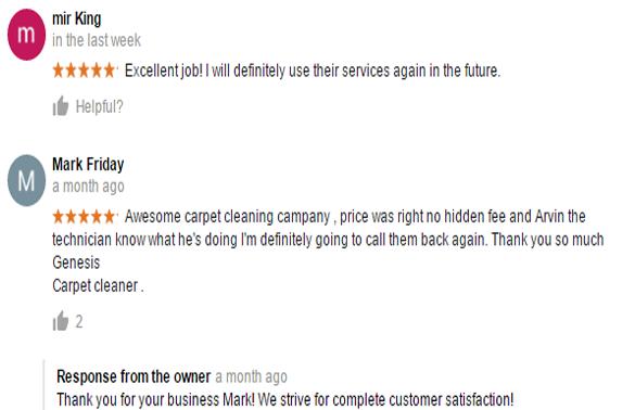 Reviews Genesis Carpet Cleaning